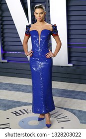 BEVERLY HILLS - FEB 24: Sara Sampaio at the 2019 Vanity Fair Oscar Party at The Wallis Annenberg Center for the Performing Arts on February 24, 2019 in Beverly Hills, CA
