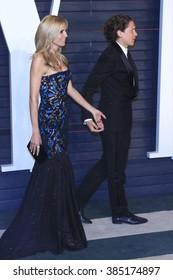 BEVERLY HILLS - FEB 28: Heidi Klum, Vito Schnabel at the 2016 Vanity Fair Oscar Party on February 28, 2016 in Beverly Hills, California