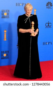 BEVERLY HILLS - JAN 6: Glenn Close at the 76th Annual Golden Globe Awards at The Beverly Hilton Hotel on January 6, 2019 in Beverly Hills, California