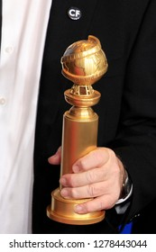 BEVERLY HILLS - JAN 6: Golden Globe Award Statue at the 76th Annual Golden Globe Awards at The Beverly Hilton Hotel on January 6, 2019 in Beverly Hills, California