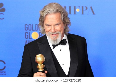 BEVERLY HILLS - JAN 6: Jeff Bridges at the 76th Annual Golden Globe Awards at The Beverly Hilton Hotel on January 6, 2019 in Beverly Hills, California