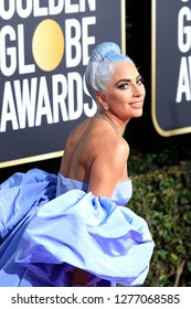 BEVERLY HILLS - JAN 6: Lady Gaga at the 76th Annual Golden Globe Awards at The Beverly Hilton Hotel on January 6, 2019 in Beverly Hills, California