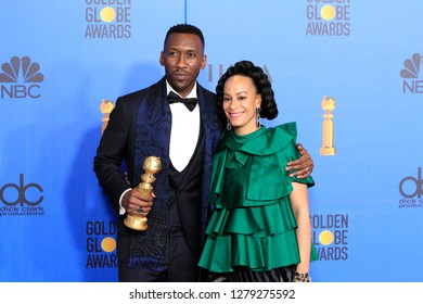 BEVERLY HILLS - JAN 6: Mahershala Ali, Amatus Sami-Karim at the 76th Annual Golden Globe Awards at The Beverly Hilton Hotel on January 6, 2019 in Beverly Hills, California