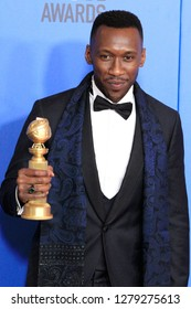BEVERLY HILLS - JAN 6: Mahershala Ali at the 76th Annual Golden Globe Awards at The Beverly Hilton Hotel on January 6, 2019 in Beverly Hills, California