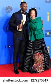 BEVERLY HILLS - JAN 6: Mahershala Ali, Amatus Sami-Karim at the 76th Annual Golden Globe Awards at The Beverly Hilton Hotel on January 6, 2019 in Beverly Hills, California