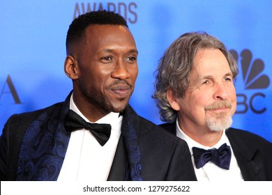 BEVERLY HILLS - JAN 6: Mahershala Ali,  Peter Farrelly at the 76th Annual Golden Globe Awards at The Beverly Hilton Hotel on January 6, 2019 in Beverly Hills, California