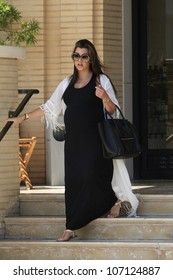 BEVERLY HILLS - JUL 5: Kourtney Kardashian out shopping on July 5, 2012 in Beverly Hills , California