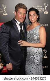 BEVERLY HILLS - JUN 16: Sean Kanan, Michelle Kanan at the 40th Annual Daytime Emmy Awards at The Beverly Hilton Hotel on June 16, 2013 in Beverly Hills, California
