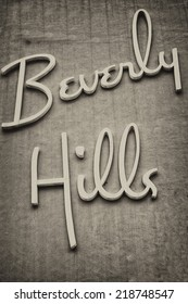 Beverly hills los angeles sign on a wall