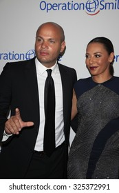 BEVERLY HILLS - OCT 2: Stephen Belafonte, Melanie Brown at the Operation Smile's 2015 Smile Gala  on October 2, 2015 at the Beverly Wilshire Four Seasons Hotel in Beverly Hills, CA.