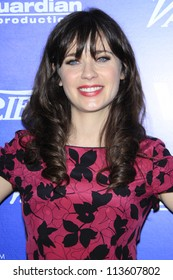 BEVERLY HILLS - SEP 21:  Zooey Deschanel at the 'Variety and Women in Film Pre-Emmy Event' at Scarpetta on September 21, 2012 in Beverly Hills, California