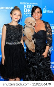 BEVERLY HILLS - SEP 29: Ruby Heath, Dog Willow, Heather Heath at the 2018 American Humane Hero Dog Awards at The Beverly Hilton Hotel on September 29, 2018 in Beverly Hills, California