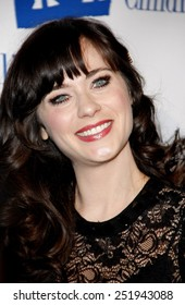 BEVERLY HILLS, USA - MARCH 1: Zooey Deschanel at the Alliance for Children's Rights Dinner Honoring Kevin Reilly held at the Beverly Hilton Hotel in Los Angeles, USA on March 1, 2012.