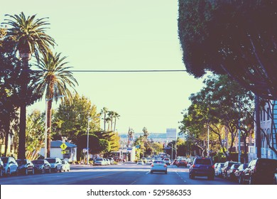 Beverly Hills in vintage tone effect, California