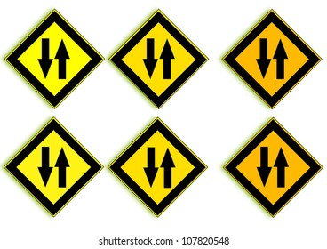 Beware of car traffic in opposite directions