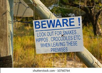 Beware of crocodiles