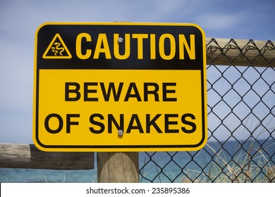 Beware of Snakes Sign