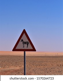 Beware of Zebras - funny street signs in Namibia Africa