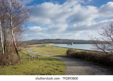 Bewl Water reservoir in High Weald, Kent, UK