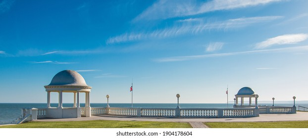 Bexhill on Sea, East Sussex - Blue Sky above the Colonnade - Shutterstock ID 1904178604