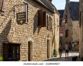 Beynac et Cazenac, France - September 4, 2018: Medieval village of Beynac et Cazenac, Dordogne department, France
