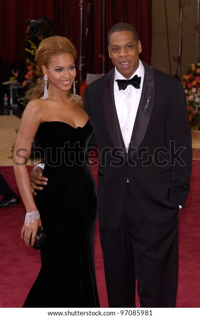 BEYONCE KNOWLES & JAY-Z at the 77th Annual Academy Awards at the Kodak Theatre, Hollywood, CA February 27, 2005; Los Angeles, CA.  Paul Smith / Featureflash