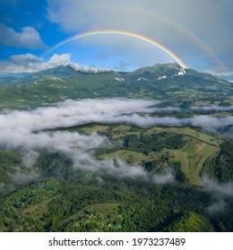Beyond the ridge Stol Mountain in East Serbia - Shutterstock ID 1973237489