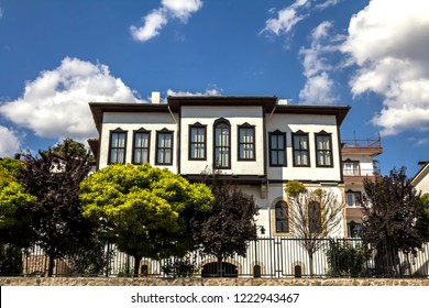 Beypazari, Ankara, Turkey - AUG 8, 2018 : Beypazari is famous with its traditional Turkish houses.  The city is a toruist destination with its jeothermal and mineral waters