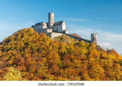 Bezdez cestle in autumn, Czech republic