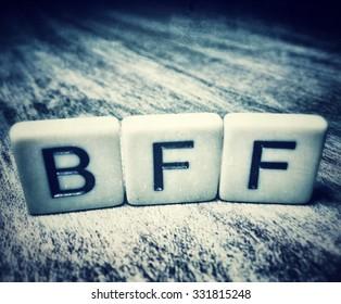 BFF For Best Friends Forever Spelled In Letter Tiles