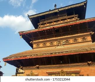 The Bhairav nath temple in Bhaktapur Nepal.