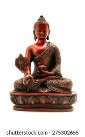 Bhaisajyaguru (the Buddha of healing and medicine) on a white background