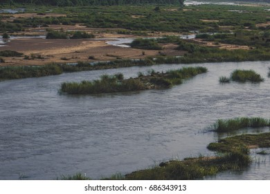 Bharatha river with little water