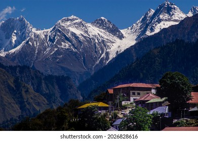 Bharmour, Himachal Pradesh, India - 2006: The dramatic mountain village of Bharmour, in Chamba District, lies at the foothills of the Indian Himalayas and is a popular destination for trekkers.