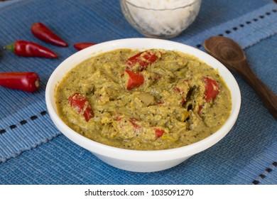 Bharwan Mirchi or stuffed mirchi is a traditional Hyderabad recipe.