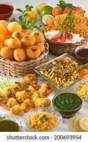 Bhelpuri, Pani puri, Sev puri, Dahi batata puri, Chat items , India