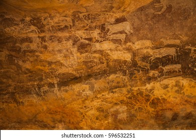 The Bhimbetka rock shelters are an archaeological site of the Paleolithic, exhibiting the earliest traces of human life on the Indian Subcontinent, and thus the beginning of the Indian Stone Age.