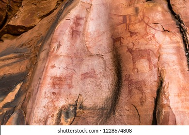 Bhimbetka rock shelters, exhibiting the earliest traces of human life on the Indian subcontinent, and thus the beginning of the South Asian Stone Age