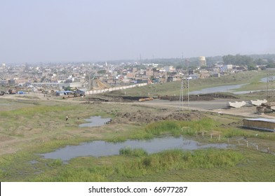 BHOPAL - DECEMBER 4: Both the two dumping grounds of the Union Carbide gas plant where they dumped their chemical waste after the gas disaster in 1984, in Bhopal - India on December 4, 2010.