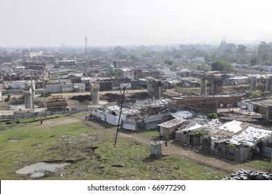 BHOPAL - DECEMBER 4: View of New Arif Nagar- a water polluted community from the chemical waste of the Union Carbide gas plant in 1984,in Bhopal - India on December 4, 2010.