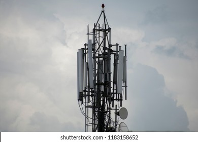 Bhopal, MP,India - Aug 17 2018 BSNL 2g, 3g, 4g Mobile Tower