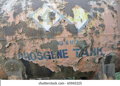 BHOPAL - NOVEMBER 17: The Phosgene gas tank that caused death of a worker in 1980 at the Union Carbide Gas Plant in Bhopal - India on November 17, 2010.