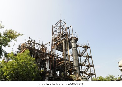 BHOPAL - NOVEMBER 17: A   view of the area of the gas plant that leaked MIC gas at the Union Carbide Gas Plant  in Bhopal - India on November 17, 2010.