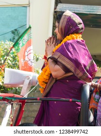 Bhopal,M.P,India - 13-Nov-2018 Krishna gaur in assembly election campaign for BJP