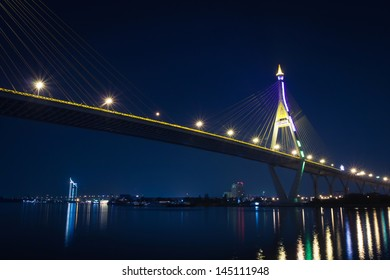 Bhumibol bridge (Industrial Ring bridge, across Choa Phraya river)