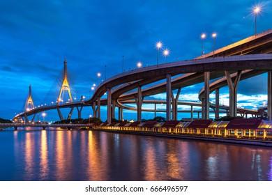 Bhumibol Bridge, Samut Prakan Thailand