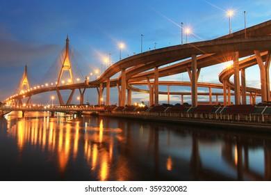 Bhumibol Bridge , Thailand