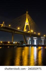 Bhumibol Bridge in Thailand (the Industrial Ring Road Bridge) in Thailand