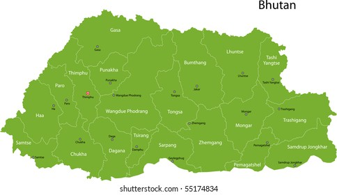 Bhutan Map Images Stock Photos Vectors Shutterstock