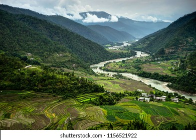 Bhutan view Mantra with Nature and People